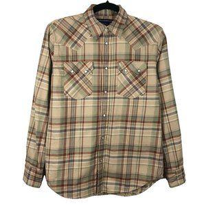 Ralph Lauren Sport Plaid Flannel Western Shirt 4